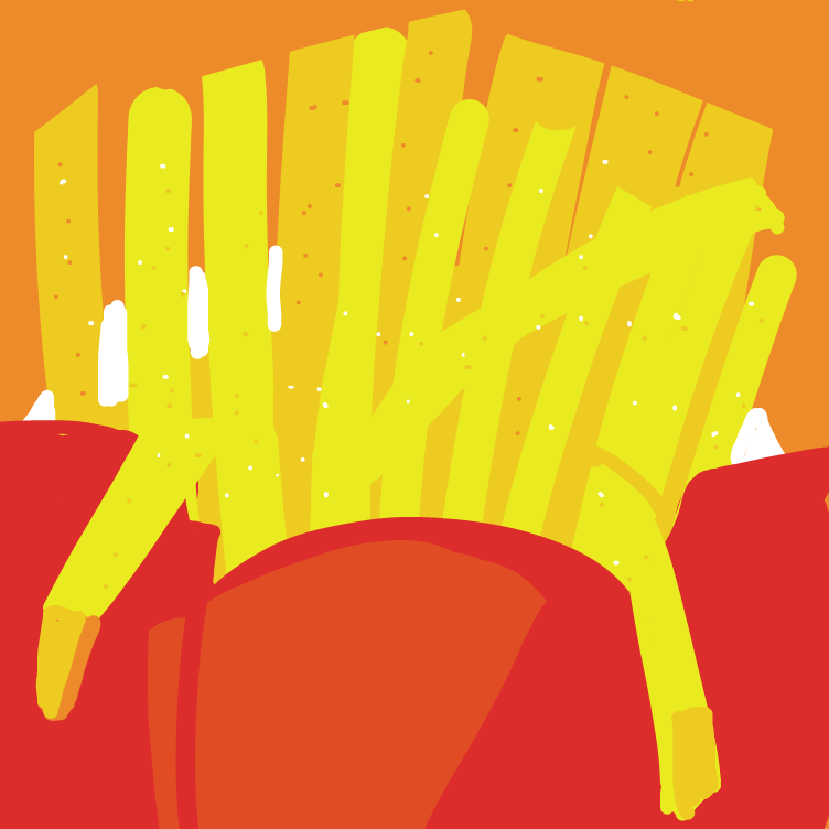 First panel in 🍟 drawn in our free online drawing game
