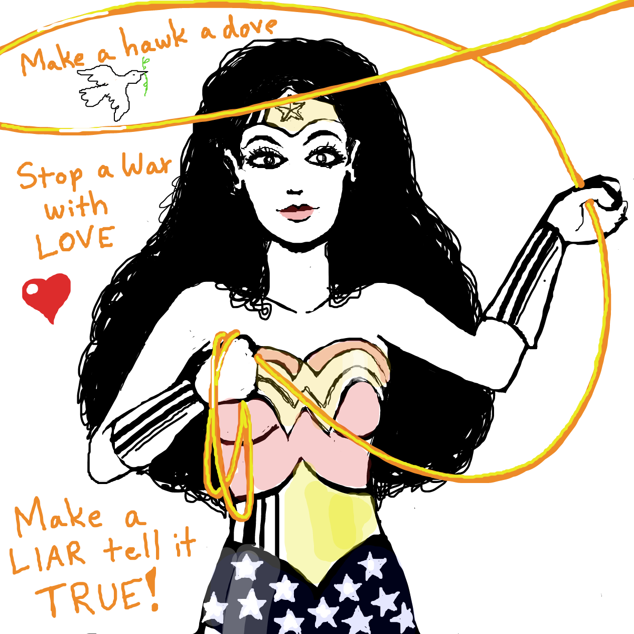 Drawing in Hope, Truth and Justice by TFD