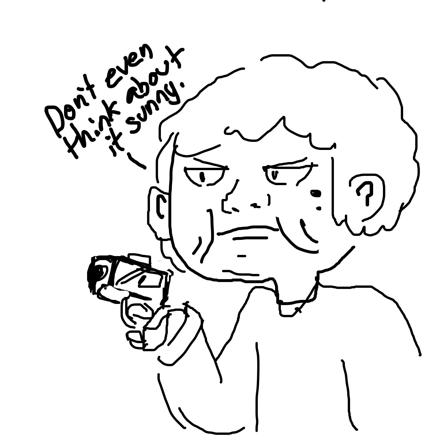 Drawing in Gun grandma  by Juleefish