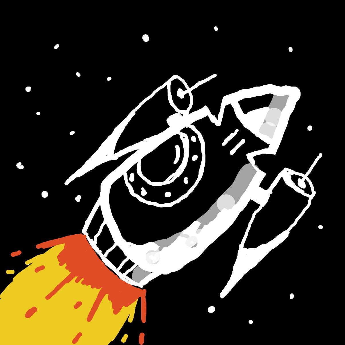 Drawing in StarShip  by LizardPie34