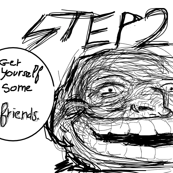 Drawing in How to troll a friend by l'intrus