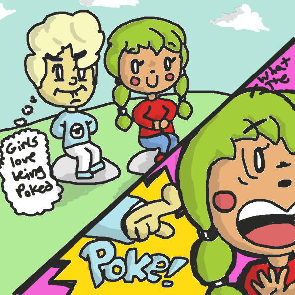 Poke! - Online Drawing Game Comic Strip Panel by xavvypls
