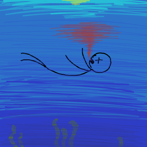 Drawing in drowning by Aluminimalism