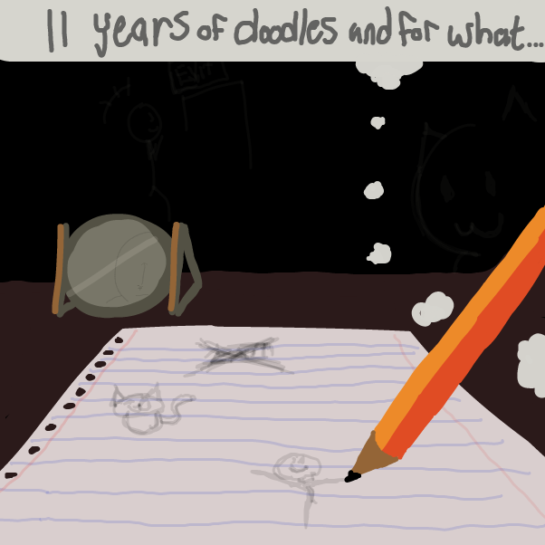 First panel in From paper to life drawn in our free online drawing game