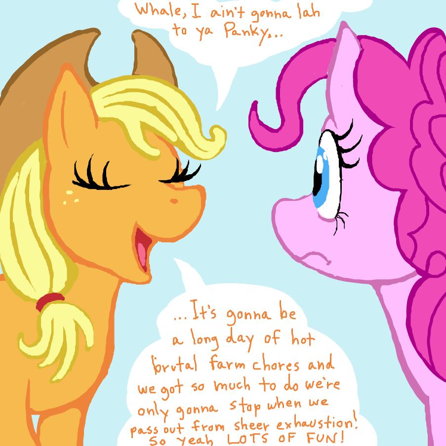 Drawing in My Little Pony II: Apple Jacks Day. by TFD
