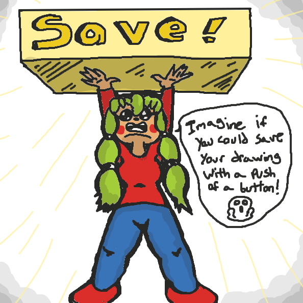 Save button please! ;w; - Online Drawing Game Comic Strip Panel by xavvypls