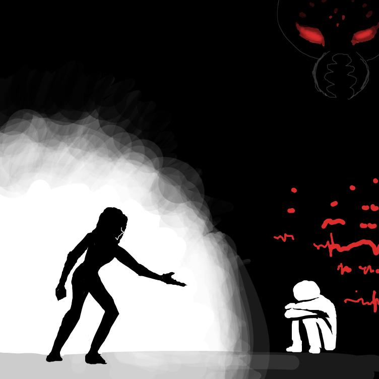 Drawing in pain by ThaSilentArtist