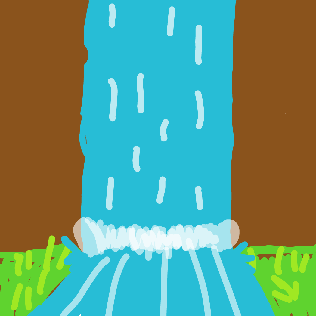 Drawing in Finish the waterfall by LizardPie34