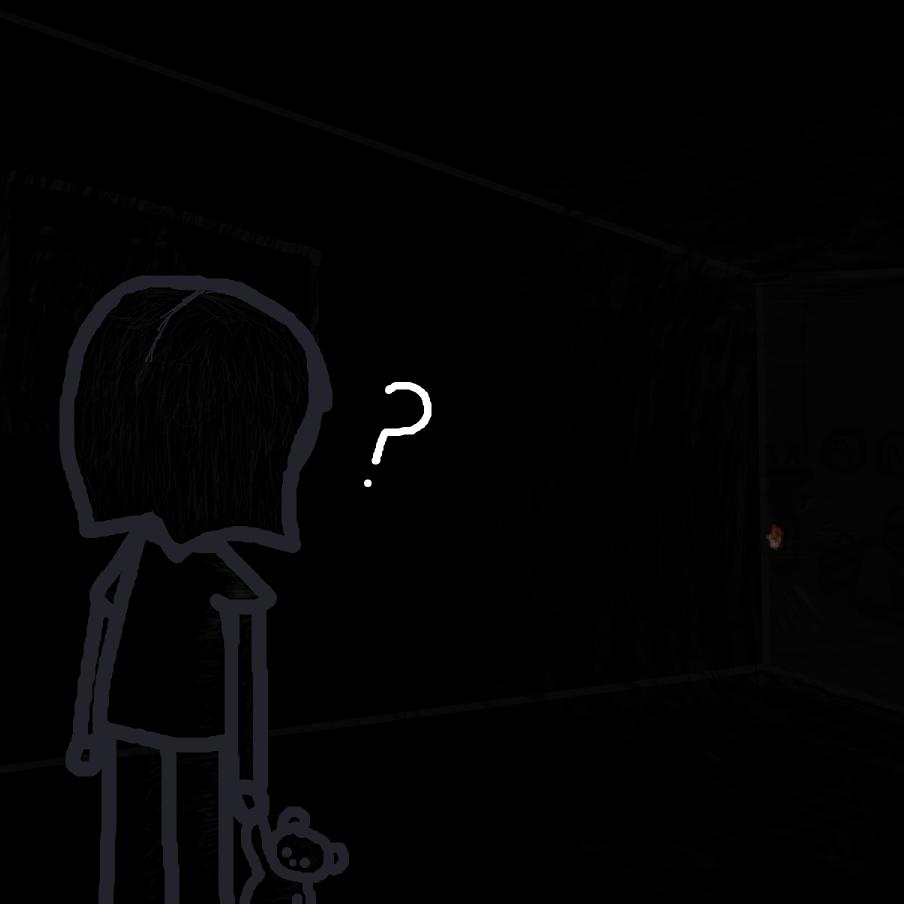 Drawing in Horror movie by ItzAki