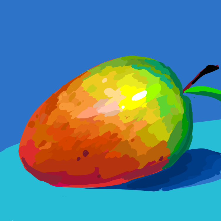 First panel in 🥭 drawn in our free online drawing game