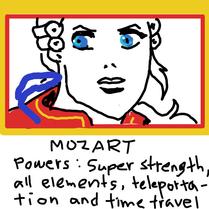 Drawing in me by Mozart