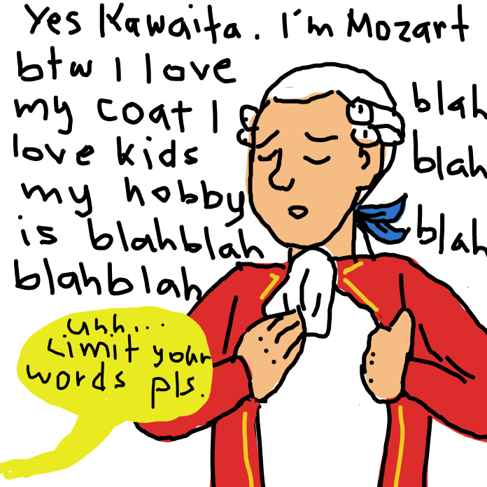 Drawing in is this an introduction by Mozart