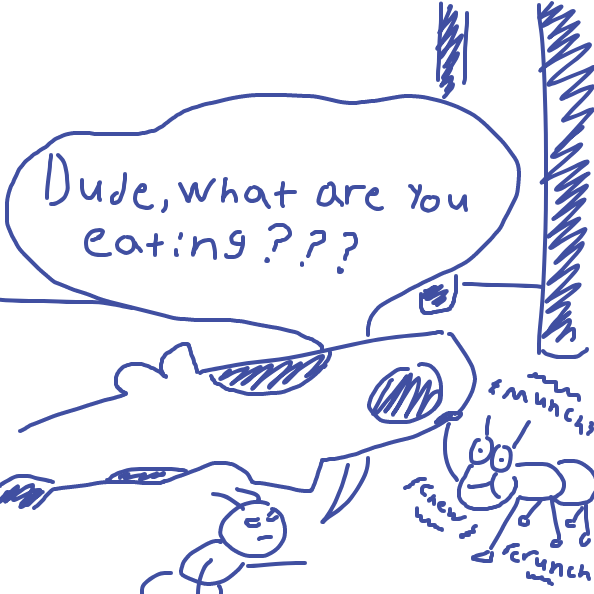 The food has fallen... - Online Drawing Game Comic Strip Panel by Zipperino