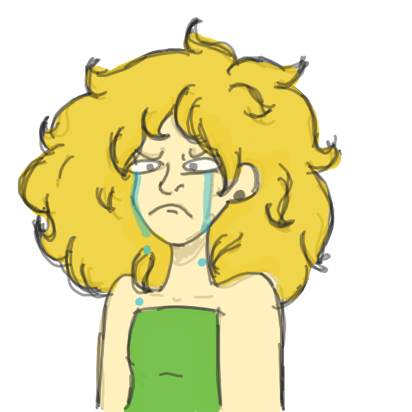 She came here to have a good time and she's personally feeling very attacked right now, - Online Drawing Game Comic Strip Panel by Salty Lemon