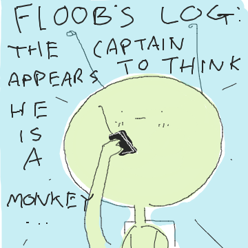 Is the captain crazy, or is Floor? - Online Drawing Game Comic Strip Panel by Potato Man