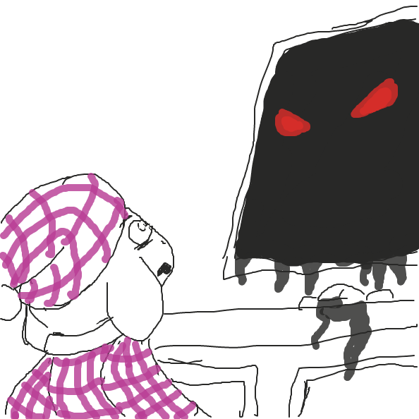 Get spooked - Online Drawing Game Comic Strip Panel by Izzaro21