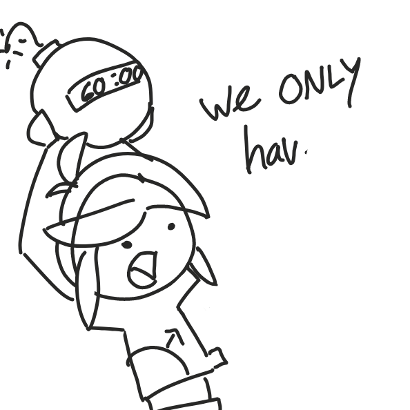 60 seconds to draw your panel . . . its okay if you go over ( esp if its to make your text readable lol ) . . . just have fun !  - Online Drawing Game Comic Strip Panel by Cake Emoji