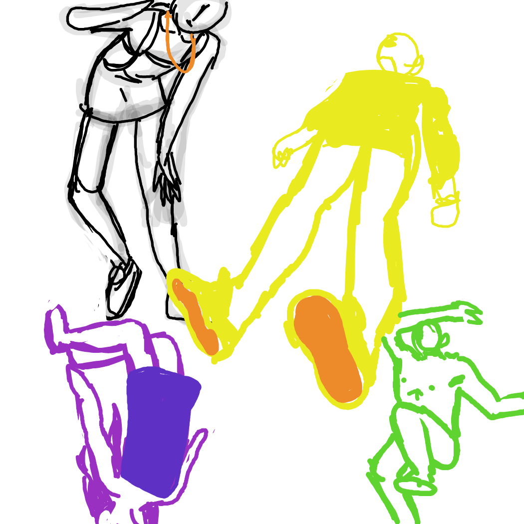 First panel in Poses 3 drawn in our free online drawing game