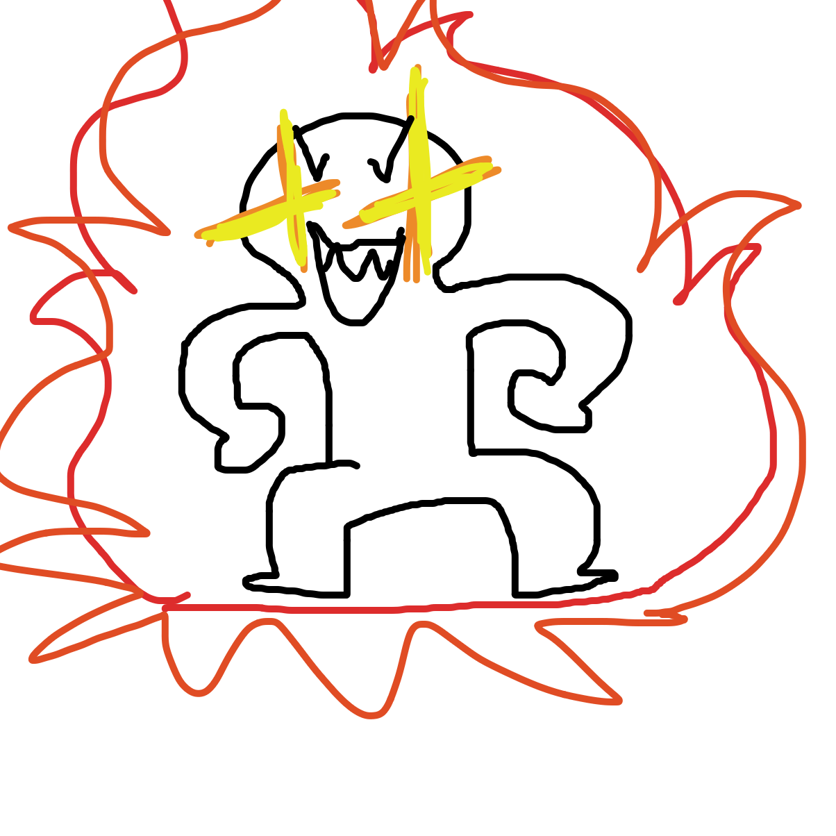 First panel in Lol ORA ORA drawn in our free online drawing game