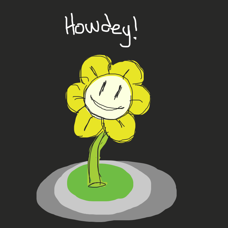 First panel in The flower drawn in our free online drawing game