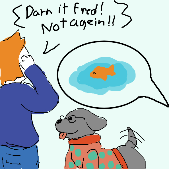 Turns out Fred was the killer all a long? - Online Drawing Game Comic Strip Panel by Izzaro21
