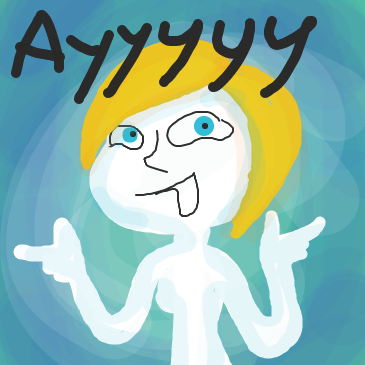First panel in Ayyyyyy drawn in our free online drawing game
