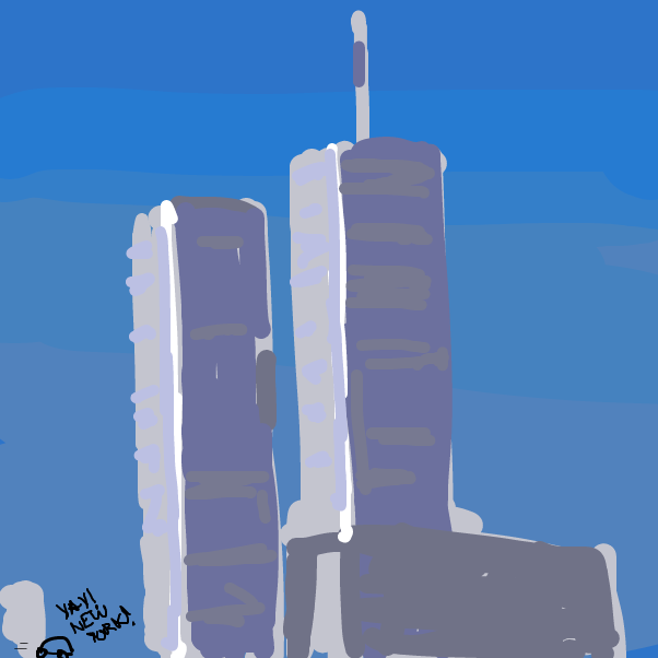 They go to new york :) - Online Drawing Game Comic Strip Panel by dink