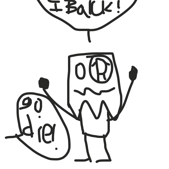 Drawing in I'm back by Drawception guy