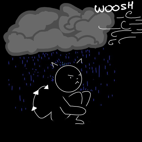 Drawing in the bad mood by Kawaita