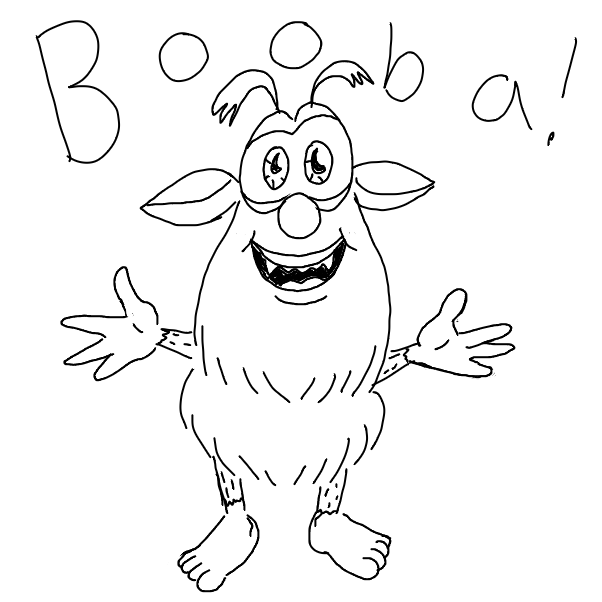 Booba - Online Drawing Game Comic Strip Panel by EggLeon