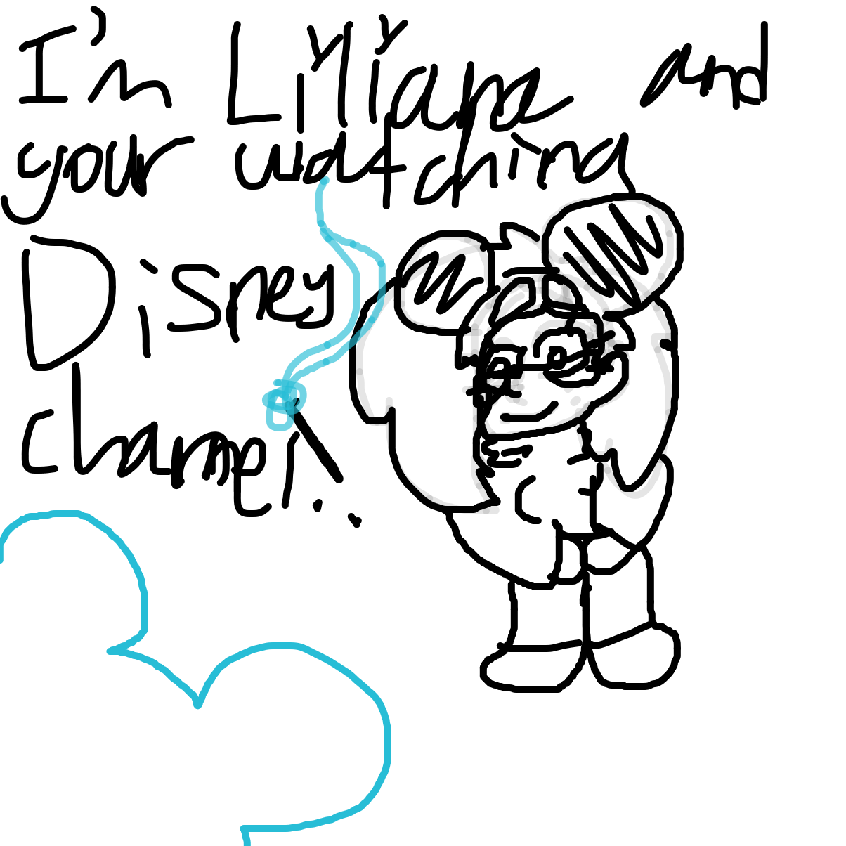 Yay DiSnEy ChanNeL - Online Drawing Game Comic Strip Panel by Liliana B