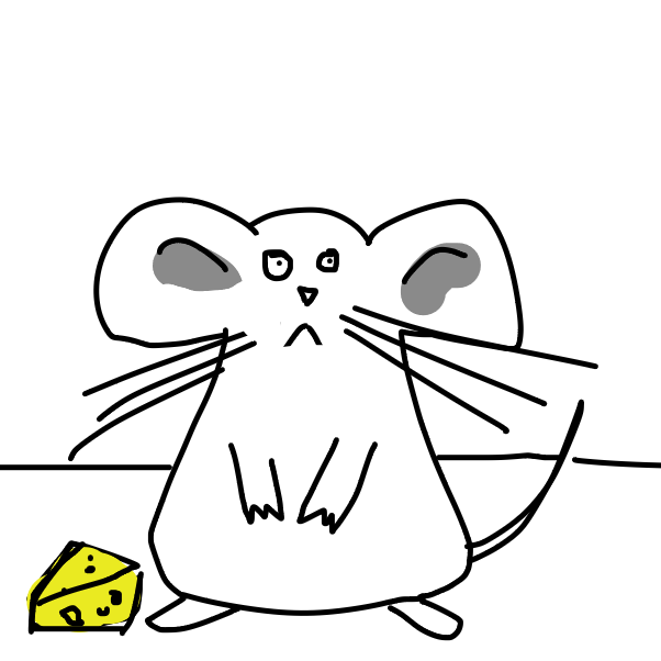 First panel in Mouse drawn in our free online drawing game