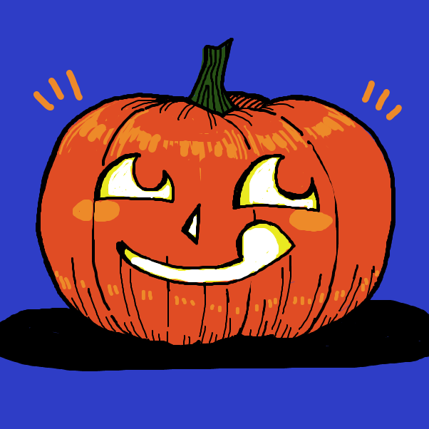 Drawing in Pumpkin carving contest by Chumky