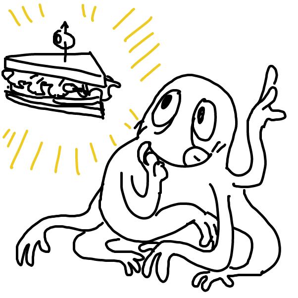 Drawing in sandwich by Chumky