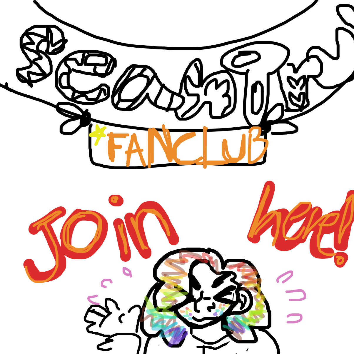 First panel in Join the SeanTrunks fan club! drawn in our free online drawing game