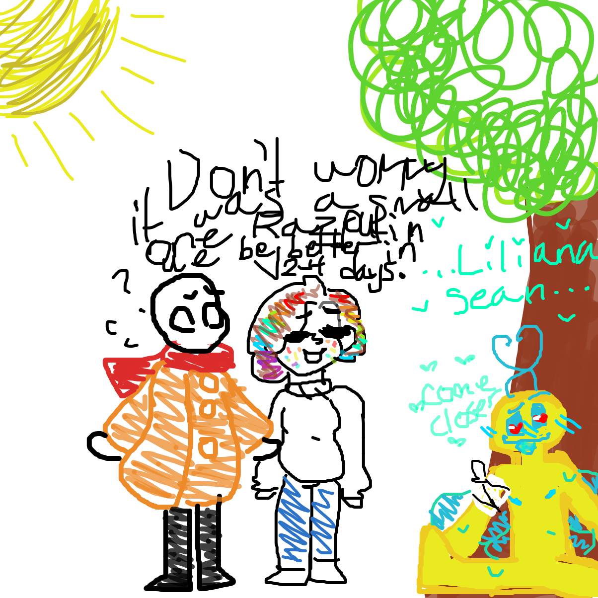 First panel in Love bugs Chapter 2 drawn in our free online drawing game