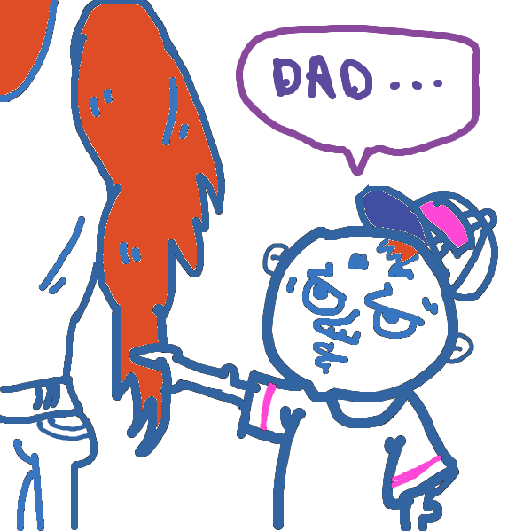 First panel in my dad drawn in our free online drawing game