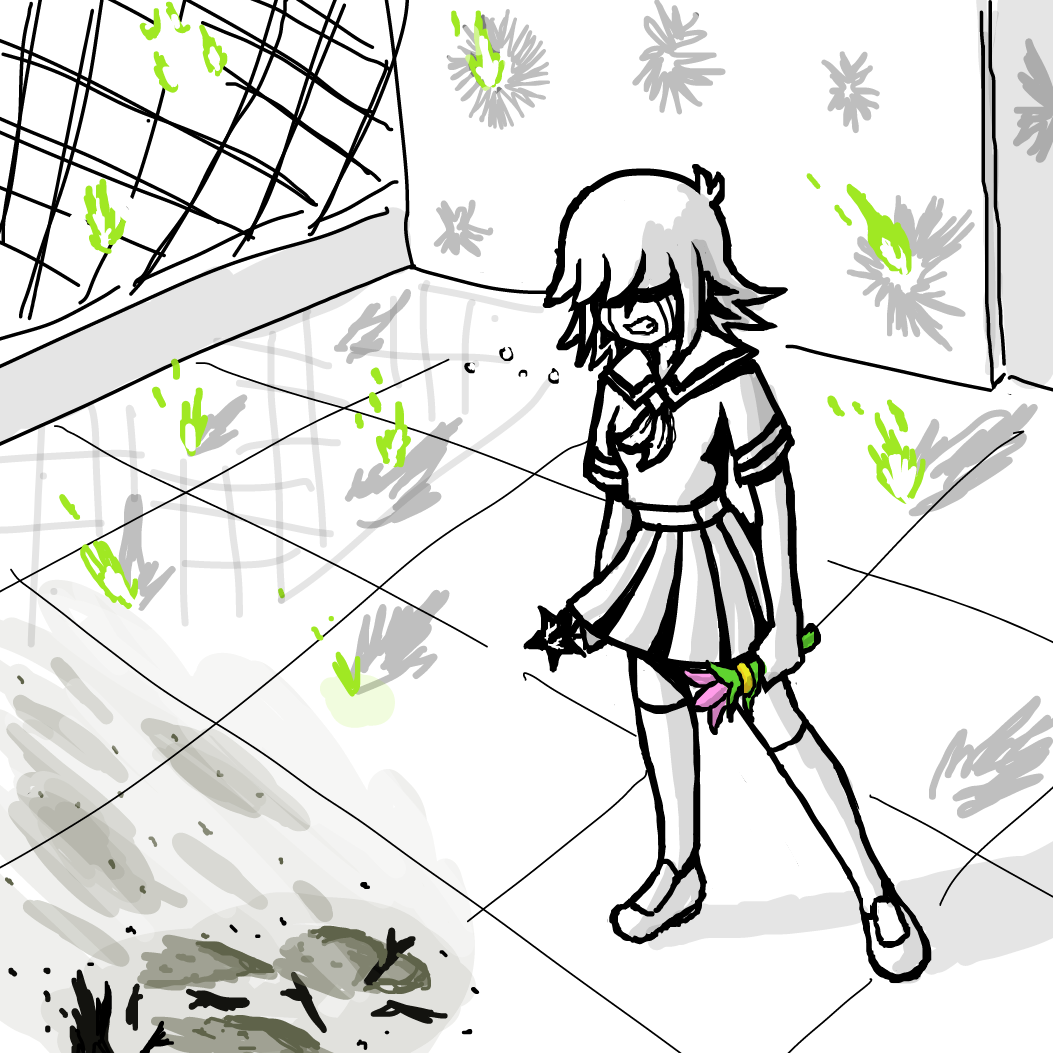 Drawing in Running Out of Panels 3: Rosy Rooftop Resolution by SeanTrunks