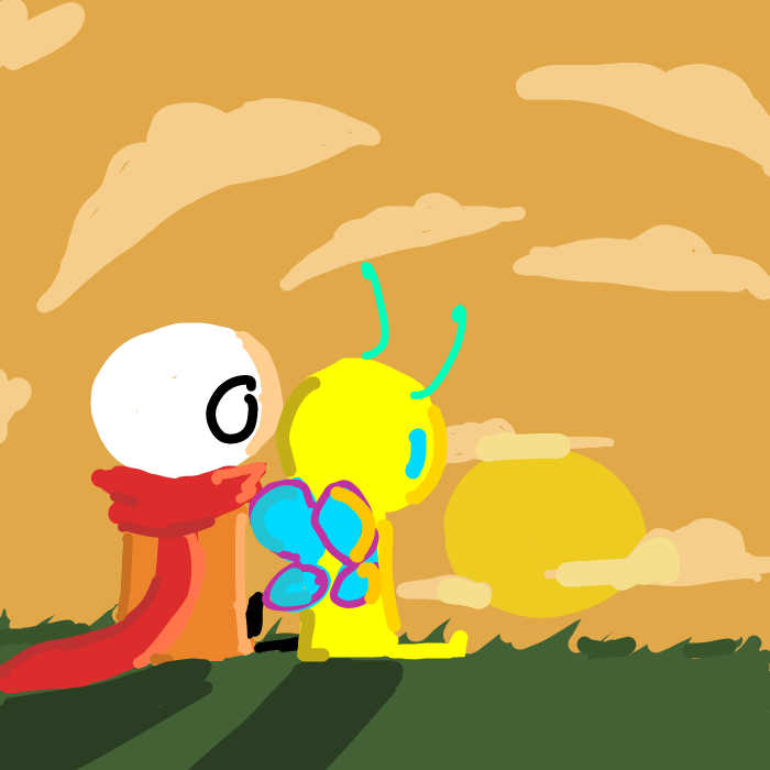 First panel in just some lil guys drawn in our free online drawing game