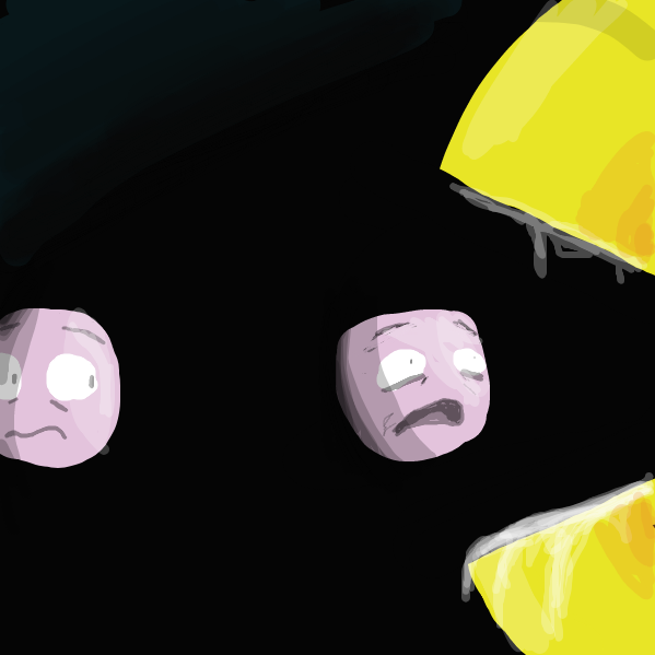 Pac-Man is voring the pellets. - Online Drawing Game Comic Strip Panel by Literally a person