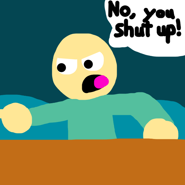 He shuts them up back. - Online Drawing Game Comic Strip Panel by Symmetricalist