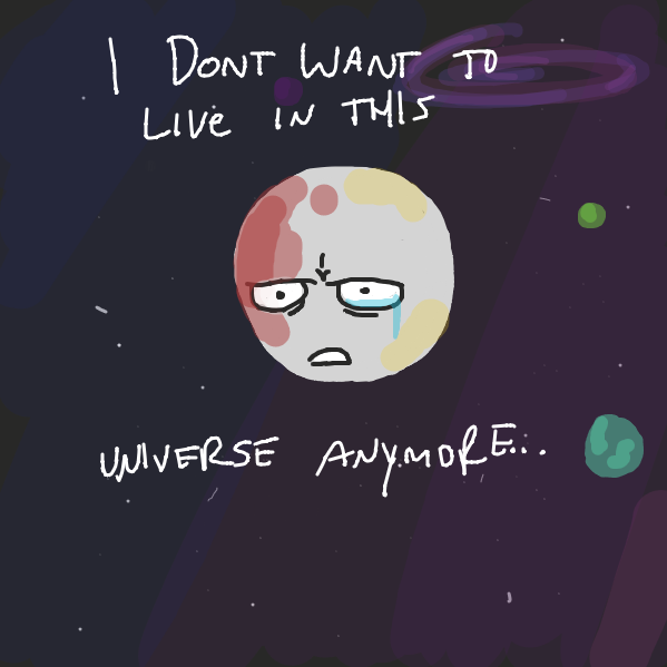Drawing in Poor Pluto by Marshdpotatoes