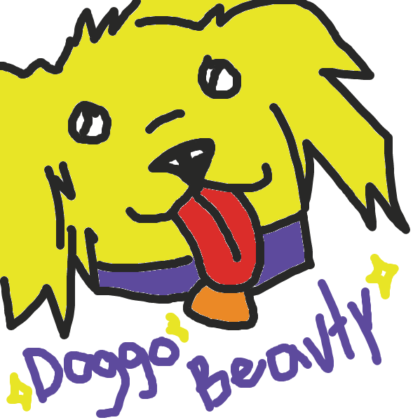First panel in Dogs, dude. DOGS! drawn in our free online drawing game