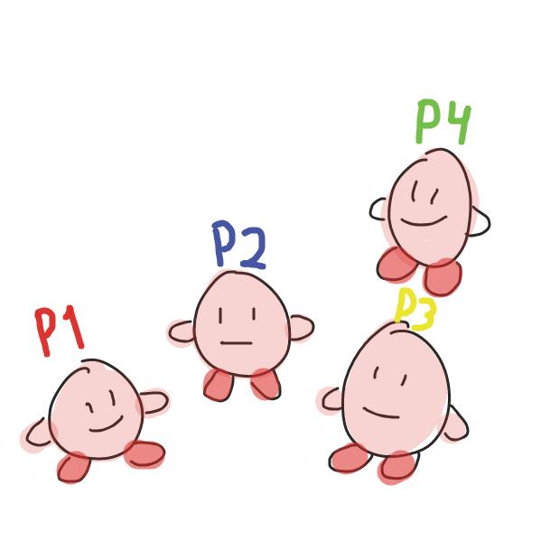 Kirby! Kirby! Kirby! Kirby! - Online Drawing Game Comic Strip Panel by Zipperino