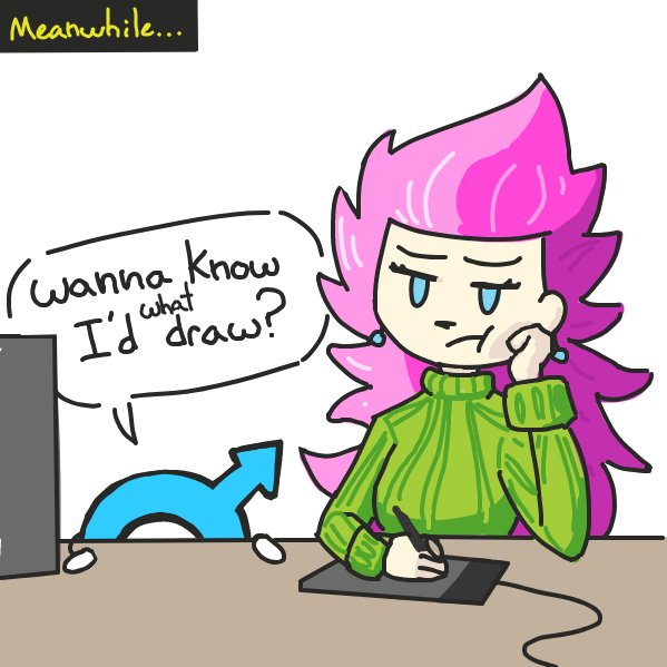 art block and my ass go a long ways . . . every night  - Online Drawing Game Comic Strip Panel by Sho-bo