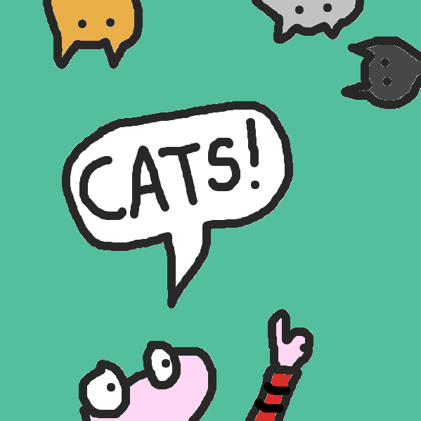First panel in Cats drawn in our free online drawing game