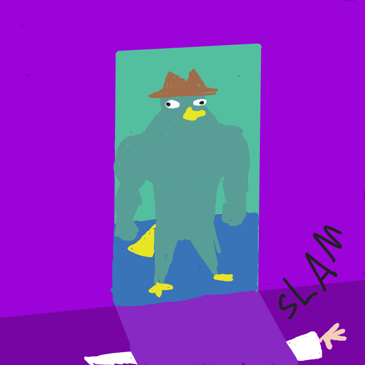 here he comes oh my god here he comes - Online Drawing Game Comic Strip Panel