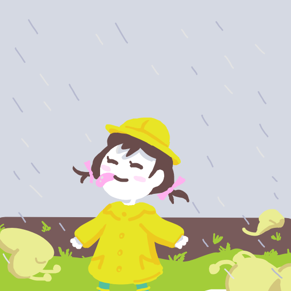 Drawing in The rain effect by Sho-bo