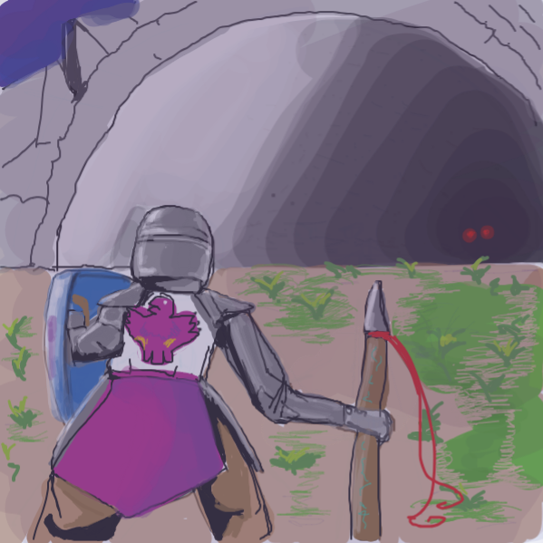 better stop before my screen freezes up  i mean. is there a spooky waifu inside that cave ? - Online Drawing Game Comic Strip Panel by kurocartoonist