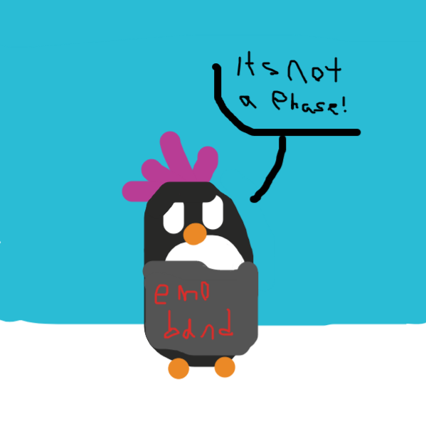 emo penguin - Online Drawing Game Comic Strip Panel by ripart